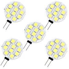 5 X G4 Ampoule Spot 5050 SMD 10 LEDs Blanc Nature 6000K 12V DC 1W WT