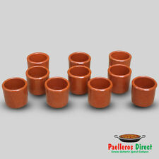 Set of 10 Spanish Terracotta Shot Glasses - Vaso Chupito - 50ml