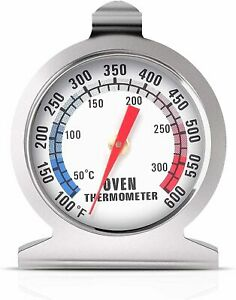 Stainless Steel Oven Thermometer Large Dial Kitchen Food Temperature
