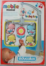 Ancien Mobile musical Educalux Baby Toy / À partir de 2 mois, Bon fonctionnement