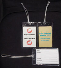 Luggage tag Frontier Airlines w/playing card choose from multiple designs