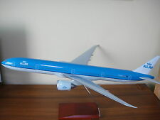 Huge 1/100 KLM Boeing B777-300ER Travel Agents Airplane Display Model Wood Stand