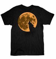 Adult Men's True Blood TV Show Howling Werewolf Wolf Moon Black T-shirt Tee