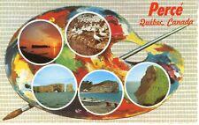 Perce Quebec QC Que Artist's Paradise Painter's Palette Multiview Postcard D19