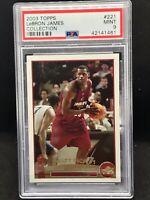 2003-04 Topps Collection #221 LeBron James Cavaliers RC Rookie PSA 9 GEM MINT 🔥
