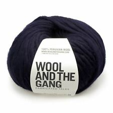Wool And The Gang Verrückt Sexy Wolle - Mitternachtsblau 200g Super Grob Garn