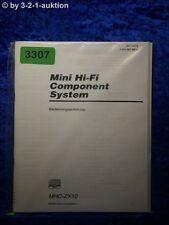 Sony Bedienungsanleitung MHC ZX10 Mini Component System (#3307)