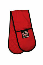 CHINESS HOT SYMBOL PADDED 100% PURE COTTON INSULATED DOUBLE OVEN COOKING GLOVE