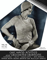 Bear Brand #58 c.1932 Vintage Style Sweater Patterns in Knitting & Crochet