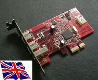PCI Express PCIe 1394A + 1394B Firewire 800 Low Profile