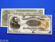Reproduction $1000 1890 T-Note US Paper Money Currency Copy