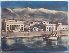 ::MEDITERANER HAFEN-<ITALIEN MITTELMEER 1957 TEMPEL STADT ARCHITEKTUR VILLA