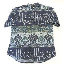 90s BASIX Fenn Wright & Manson Multi-Color Button Up Short Sleeve Shirt Size L