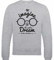 Imagine It's Not A Dream Mens Funny John Lennon Sweatshirt The Beatles Peace