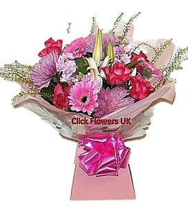 FRESH FLOWERS Delivered UK Pretty in Pink Free Flower Delivery