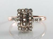 Diamond Rose Gold Ring Art Deco Fine Jewellery