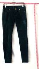 "7 for All Mankind Green Skinny Jeans Sz 27 Inseam 31"" #3329 Batch #50"