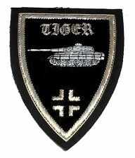 German Panzer Tiger Tank Unit Front Division War Battle Cross Uniform ID Patch S