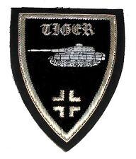 German Panzer Tiger Tank Unit Front Division War Battle Cross Uniform Patch ID S