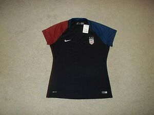 New with tags Nike DRI-FIT sewn Team USA Womens Soccer Black Large Jersey 2016
