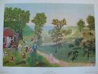 """Grandma Moses """"Mary And The Little Lamb"""" Art Print  1951 20 x 14 Free Shipping"""