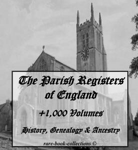+1,000 PARISH REGISTERS 4 DVD - GENEALOGY ENGLISH ANCESTRY PEOPLE FAMILY HISTORY