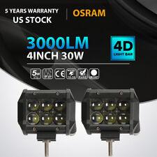 2x 4inch 30w OSRAM LED Luz De Trabajo Bar Spot todoterreno FARO ANTINIEBLA