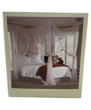 Mombasa Majesty Ivory Sheer Mosquito Netting 100% Polyester Fits Full to King