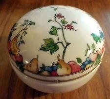 """RARE VILLEROY & BOCH """"mon jardin"""" LARGE BIJOU BOX/couvercle pot/sweet pot"""
