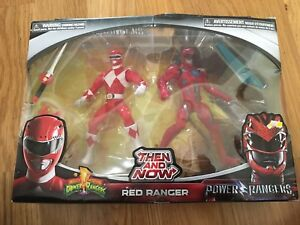 POWER RANGERS Then & Now red ranger mighty morphin & movie twin pack new sealed