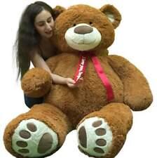 Personalized 5 Foot Very Big Smiling Teddy Bear Giant Stuffed Animal Bear