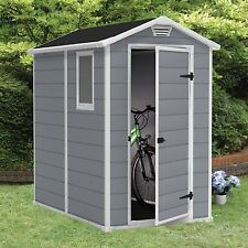 Outdoor Storage Shed Utility Tool Resin Backyard Garden Building Lawn 4 x 6 New