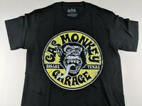 NEW Gas Monkey Garage Blood Sweat Beers Black Official T Shirt Yellow Graphic