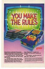 1992 Game Genie Video Game Enhancer Advertisement