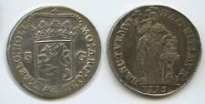 G0226 - Niederlande Provinz Holland 3 Gulden 1795 KM#? TOP Erhaltung Silber