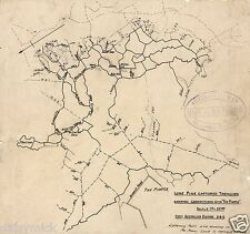 Lone Pine ANZAC Trench & Tunnel Map Gallipoli World War 1 8x8 Inch Reprint