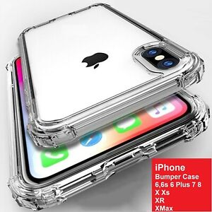 For iPhone 11 Pro Pro Max X XR Xs MAX 6 7 8 Clear Bumper Case Slim Silicone