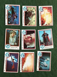 Lot of 9 Superman the Movie Trading cards Topps DC Comics lot #4