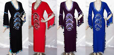 Belly Dance Baladi Galabeya Women Dress Embellished Dancing Costume Wear Outfit