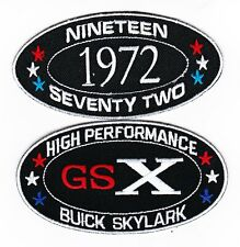 1972 BUICK GSX SKYLARK SEW/IRON ON PATCH EMBLEM BADGE EMBROIDERED 455