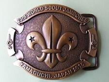RARE 2015 world scout jamboree Japan / Scout Shop official BUCKLE badge patch