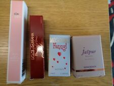 4 MINIS NEW BOXED LADIES PERFUME STOCKING FILLERS MOSCHINO D & G LACOSTE