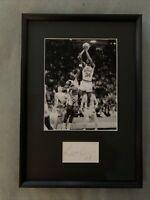 Len Bias Hand Signed Autographed Cut 8x10 Photo Maryland Terps Framed W/COA
