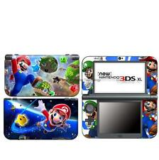 star super MARIO DECAL Skin Sticker case Cover for Nintendo NEW 3DS XL LL NL96