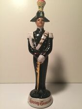 Vintage 1960s Liquore Galliano Decanter Figure Soldier Bottle Cunardo Italy Used