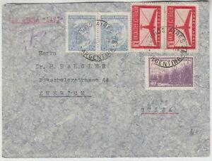 ARGENTINA 1941 multi franked un-censor cover *BUENOS AIRES-ZURICH* via LATI air