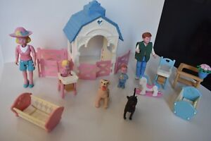 Vintage Fisher Price Loving Family Furniture Lot with People