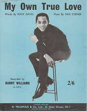 My Own True Love - Danny Williams - 1963 Sheet Music