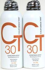 2 California Tan 5oz Broad Spectrum SPF 30 Oil Free Water Resist Sunscreen Spray
