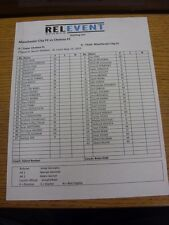 23/05/2013 Colour Teamsheet: In Busch Stadium, St Louis: Chelsea v Manchester Ci